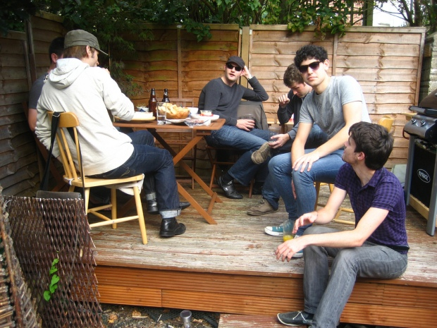The guys hanging out