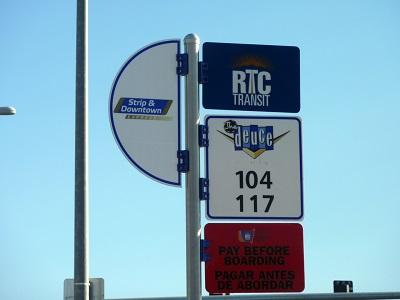 Duece bus stop