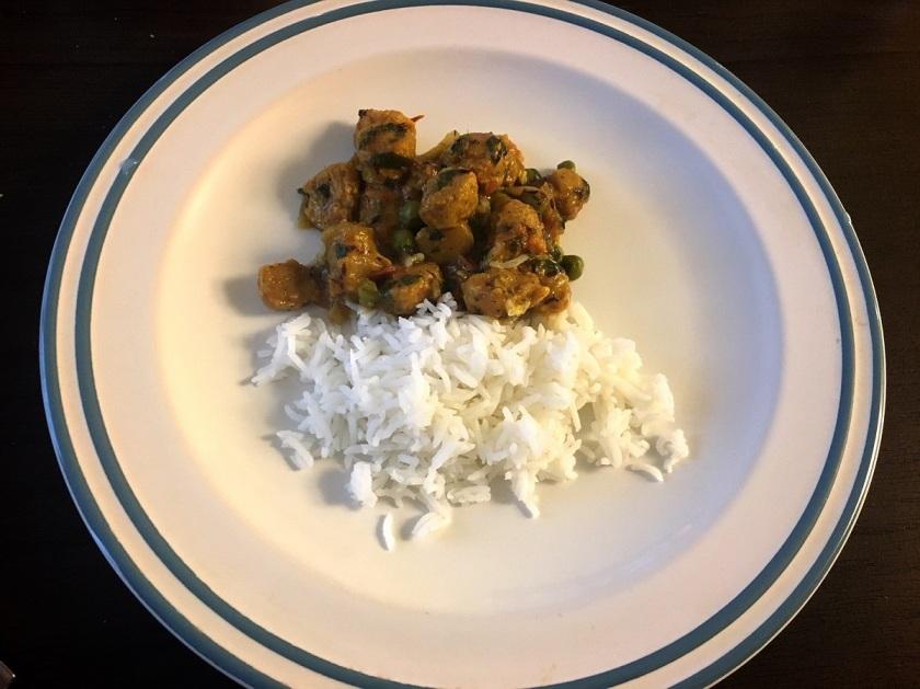 Soya chunks curry 0
