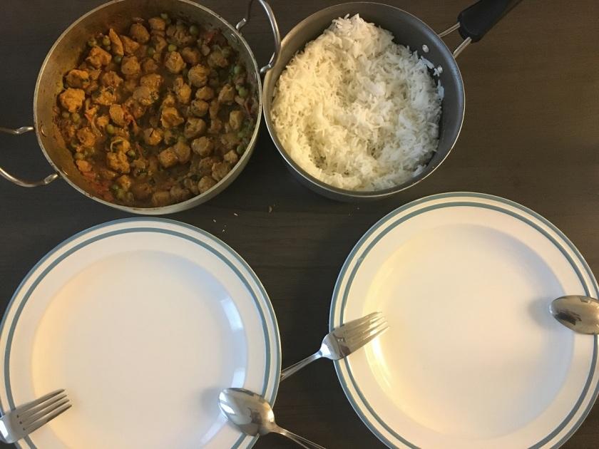 Soya chunks curry 1