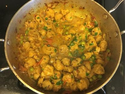 Soya chunks curry 11