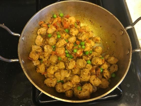Soya chunks curry 7