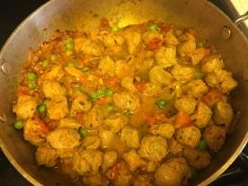 Soya chunks curry 9